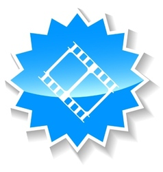 Film blue icon vector