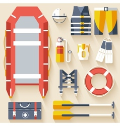 Emergency service paramedic lifeguard equipment vector