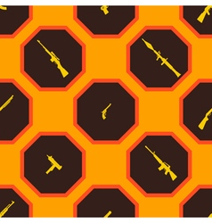 Seamless background with weapons and arms vector