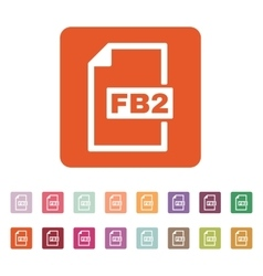 The fb2 icon file format symbol flat vector