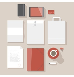 Flat design corporate identity mock-up vector