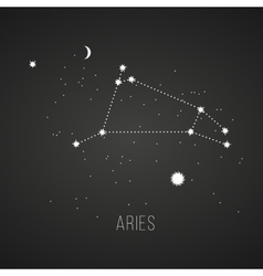 Astrology sign aries on chalkboard background vector