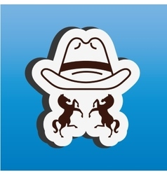Wild west icon design vector
