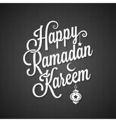 Ramadan greeting card vintage lettering background vector