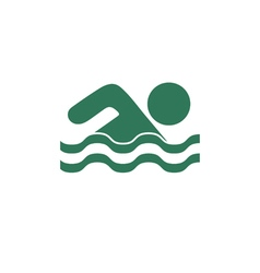 Swimming water sport icon vector