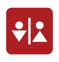 Man and woman toilet icon vector