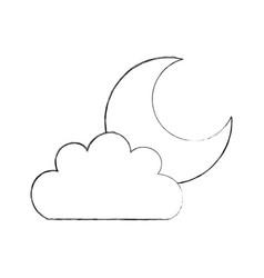 beautiful fantasy cloud with moon vector image vector image