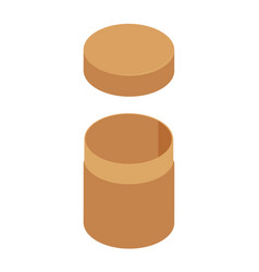 brown cylinder box vector image