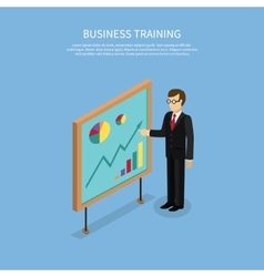 Business taining concept vector