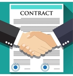 Businessman handshake on contract vector image vector image