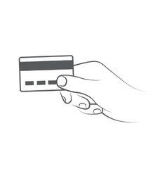 Credit card payment vector image vector image