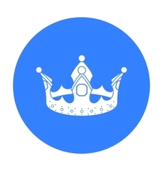 Crown icon in black style isolated on white vector