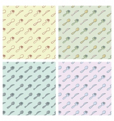 cutlery pattern vector image vector image
