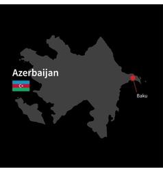 Detailed map of Azerbaijan and capital city Baku vector image