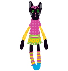 doll - cat vector image vector image