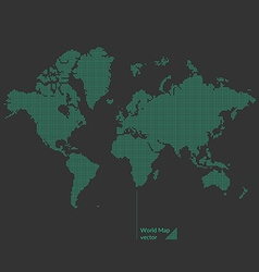 Dotted world map vector image vector image