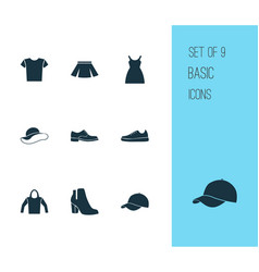 Dress icons set collection of sweatshirt vector
