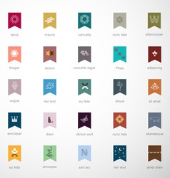 Emblems and elements for design vector
