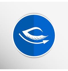 eye with lashes long eyelashes icon vector image