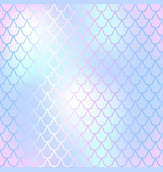 Fish skin seamless pattern mermaid scale vector