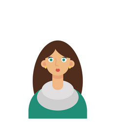 flat girl student vector image vector image