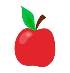 Fresh red apple isolated vector image vector image