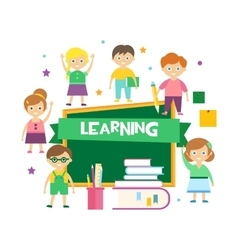 Kids Learning vector image