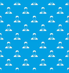 Man in business suit pattern seamless blue vector