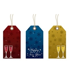 new years tags vector image