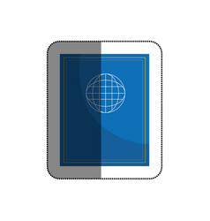 passport document isolated icon vector image vector image