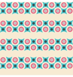 Seamless pattern in retro colors vector image vector image