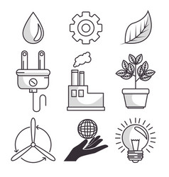 set of enviromental recycle ecology icon vector image
