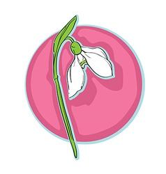 snowdrop clip art vector image vector image