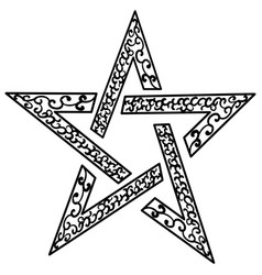 tattoo tribal star isolated sketch star vector image vector image