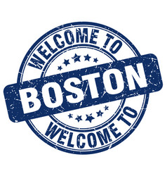 Welcome to boston vector
