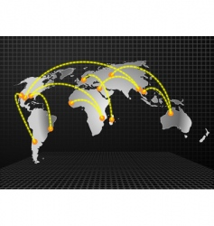 world trades background vector image vector image