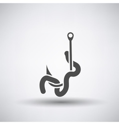 Worm on Hook Icon vector image vector image
