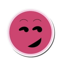 Flirting emoticon icon vector