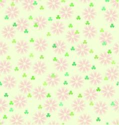 flower shamrock pattern seamless spring vector image