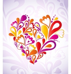 Abstract heart colorful vector image