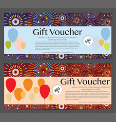 Gift voucher celebration template background vector
