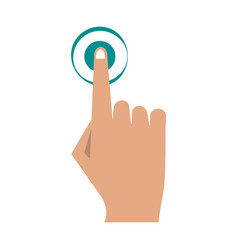 Finger tapping icon image vector
