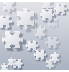 abstract blank puzzles concept vector image