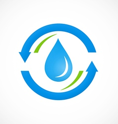 Clean water process abstract logo vector