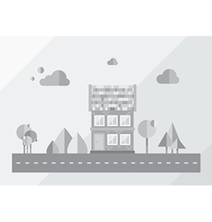 City background gray vector