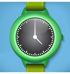 Green watches vector