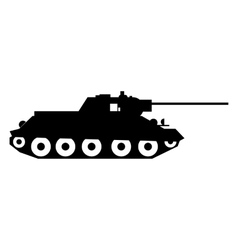 Tank simple icon vector