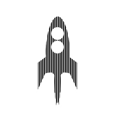 Starting rocket sign vector