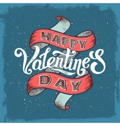 Happy valentines day vintage poster vector