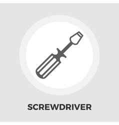 Screwdriver icon flat vector